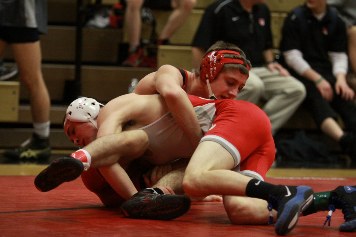 Matt Brownback battled his way to a fourth place finish for the Red Raiders