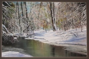 Winter Magic, a watercolor by Glenn Blue, will be featured at the Chadds Ford Gallery starting Friday.