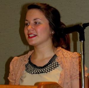 Emalee Lally, a rising senior at West Chester University, received a scholarship from