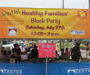 Hundreds gathered at the Brandywine Center on East Lincoln Highway for the Healthy Families' Block Party on Saturday.