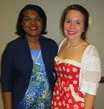 Mildred L. Dixon, president of the Women's Democratic Club Of Chester County, poses with scholarship recipient Emalee