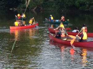 Participants in the 2012 'Brandywine Trek' enjoy a stint of canoeing during last year's odyssey.