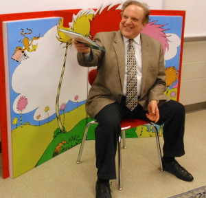 """State Sen. Andy Dinniman presents a dramatic rendition of Dr. Seuss' """"Hop on Pop."""""""
