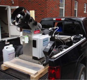 This Pro-Mist electric ULV sprayer is one of the tools used by the state to control adult mosquitoes that could spread West Nile virus.