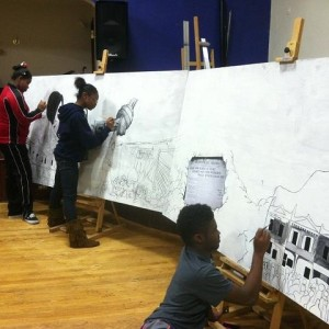 Students worked on the mural at the Bridge Academy and Community Center on Olive Street in Coatesville for nine months.