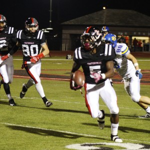 Ahkeema Evans returns an interception in the last minute. The late pick six sealed the game for his team.