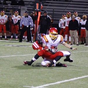 Steven Lentz gets a first quarter sack. Coatesville's front seven owned the line against the run and pass.