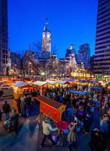 Christmas Village in Philadelphia.